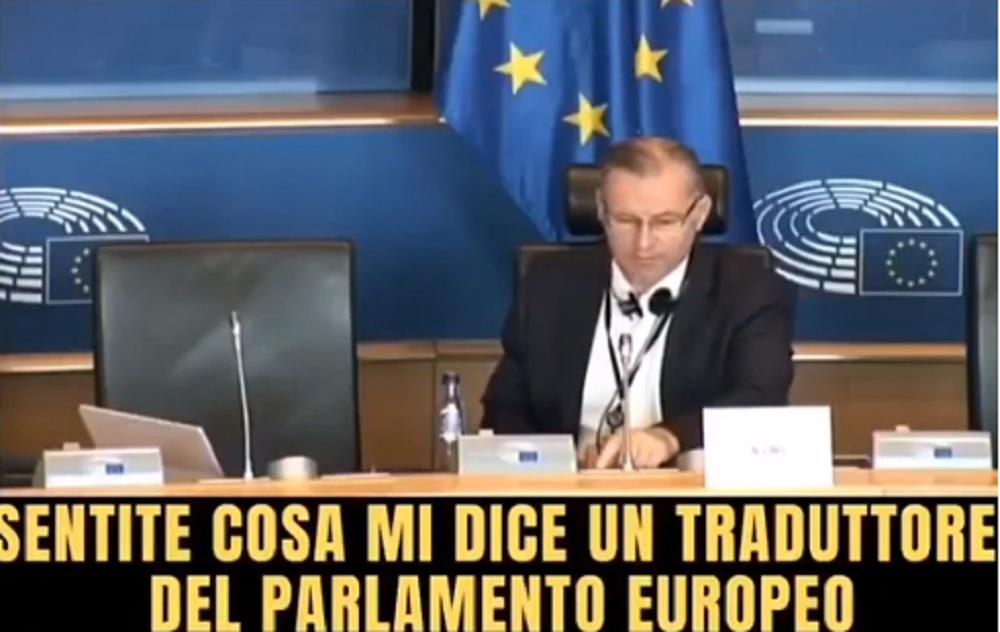 Angelo Ciocca, eurodeputato Lega insultato dal traduttore del Parlamento Europeo VIDEO
