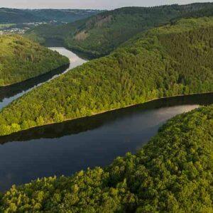 Vulcano non dormiente sotto i laghi dell'Eifel, nella Germania occidentale