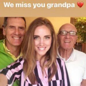 """Chiara Ferragni, la dedica commovente al nonno morto: """"Ci manchi"""""""