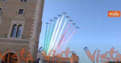 Le Frecce Tricolori volano nel cielo di Roma per la Festa della Repubblica VIDEO