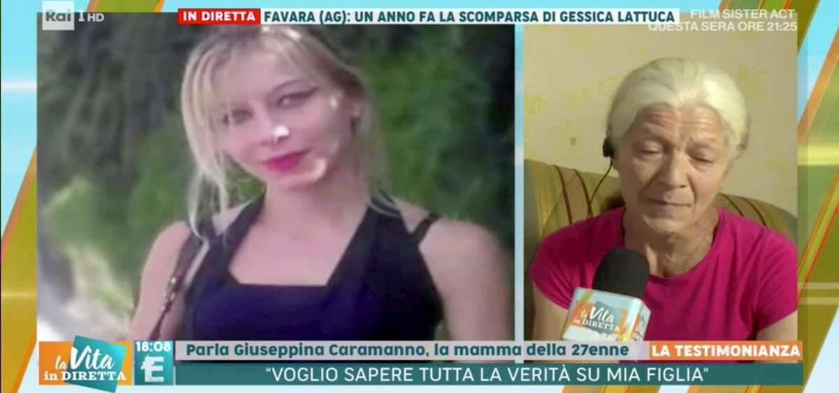 """Gessica Lattuca, la mamma a La Vita in Diretta: """"Dov'è mia figlia? Non ho più speranze"""""""
