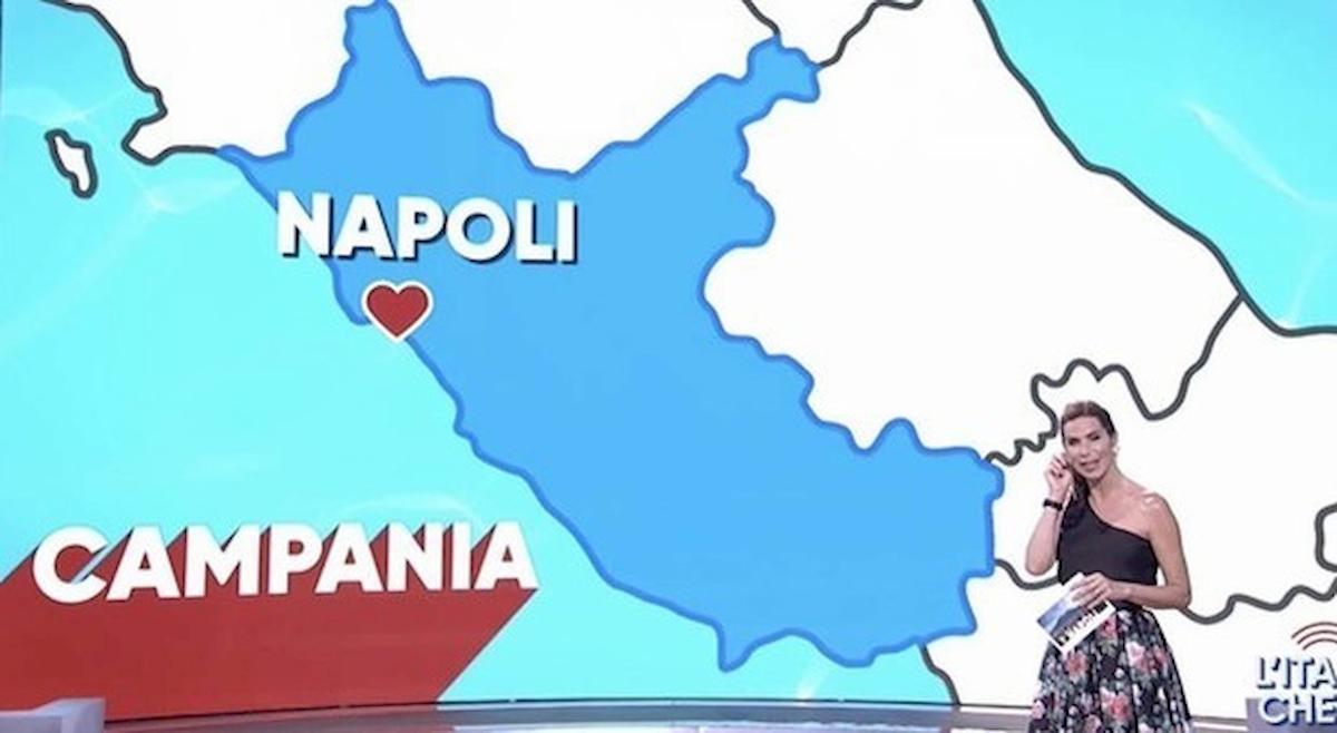 L'Italia che fa, gaffe sulla cartina geografica: Napoli finisce nel Lazio