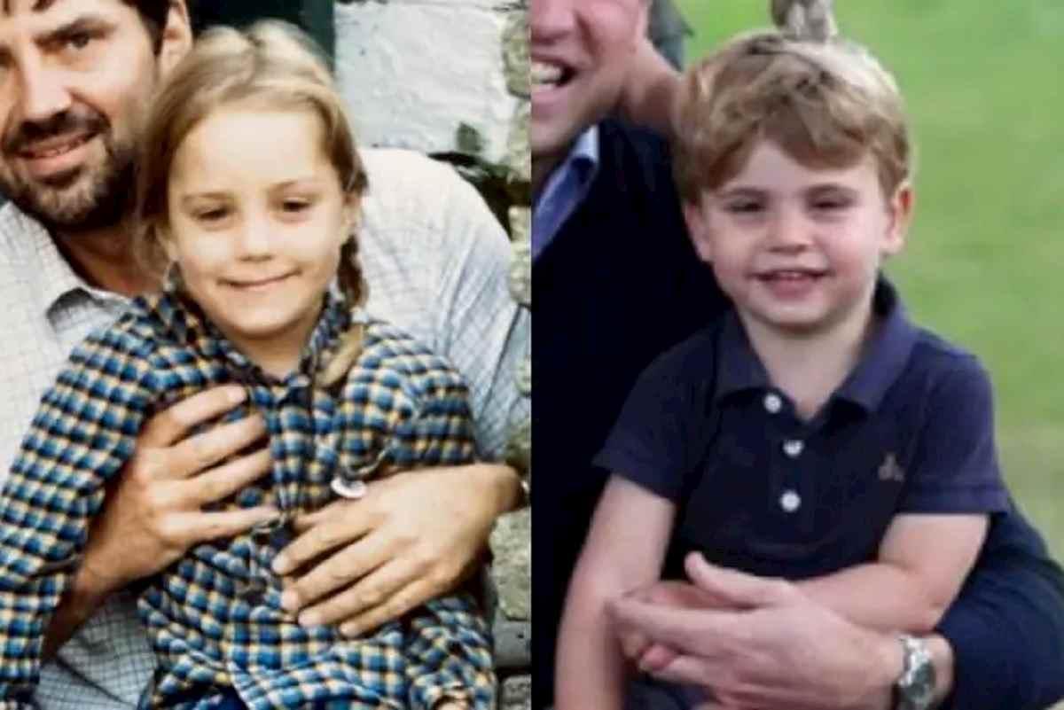Kate Middleton bambina e la foto del principino Louis