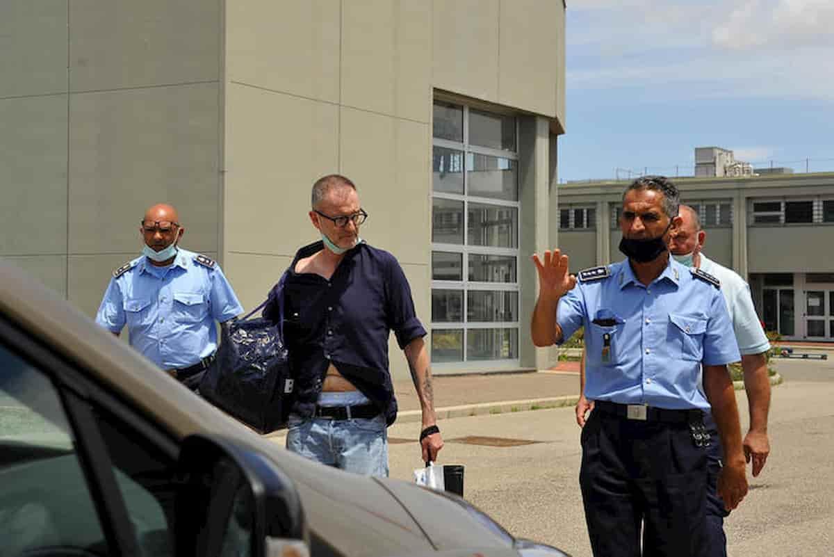 Massimo Carminati esce dal carcere di Oristano