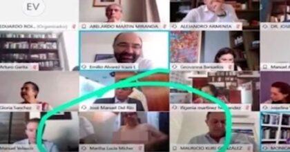 Messico, senatrice in topless durante una video conferenza VIDEO