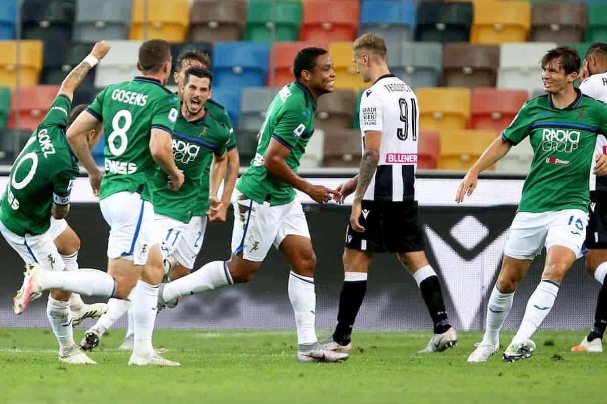 Luis Muriel, spettacolare doppietta contro l'Udinese