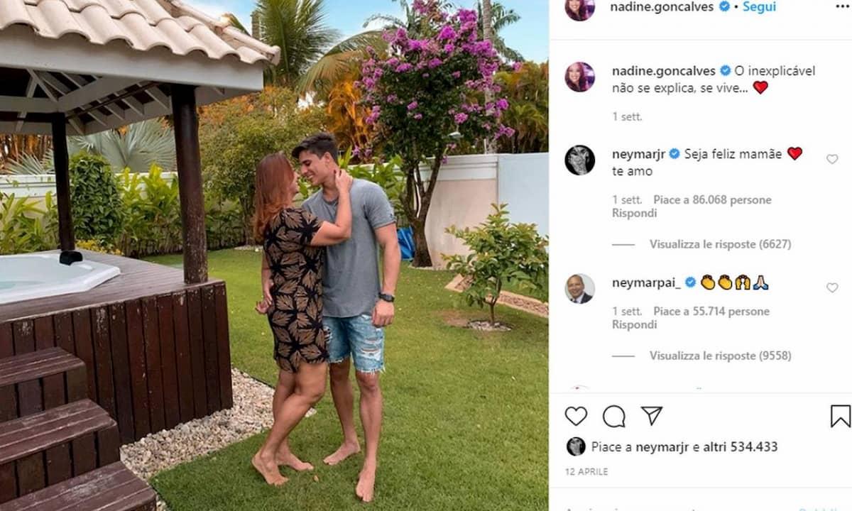 Neymar. Altra lite tra la madre Nadine e il fidanzato Tiago (toy boy che esce con altri uomini)