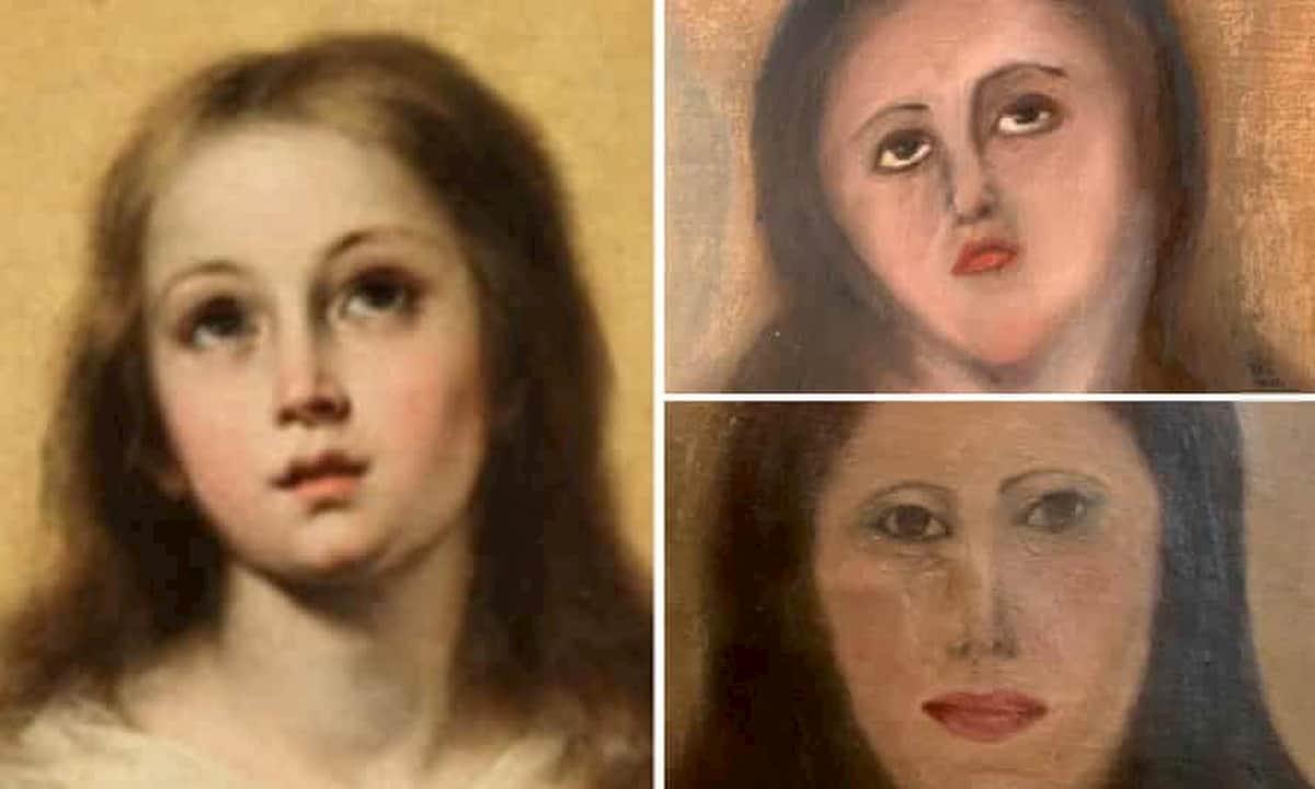 Il dipinto sfigurato della Immacolata Concezione di Murillo