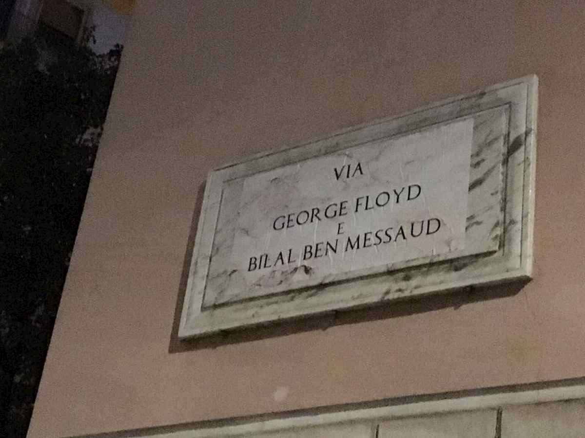 Via Amba Aradam diventa via George Floyd