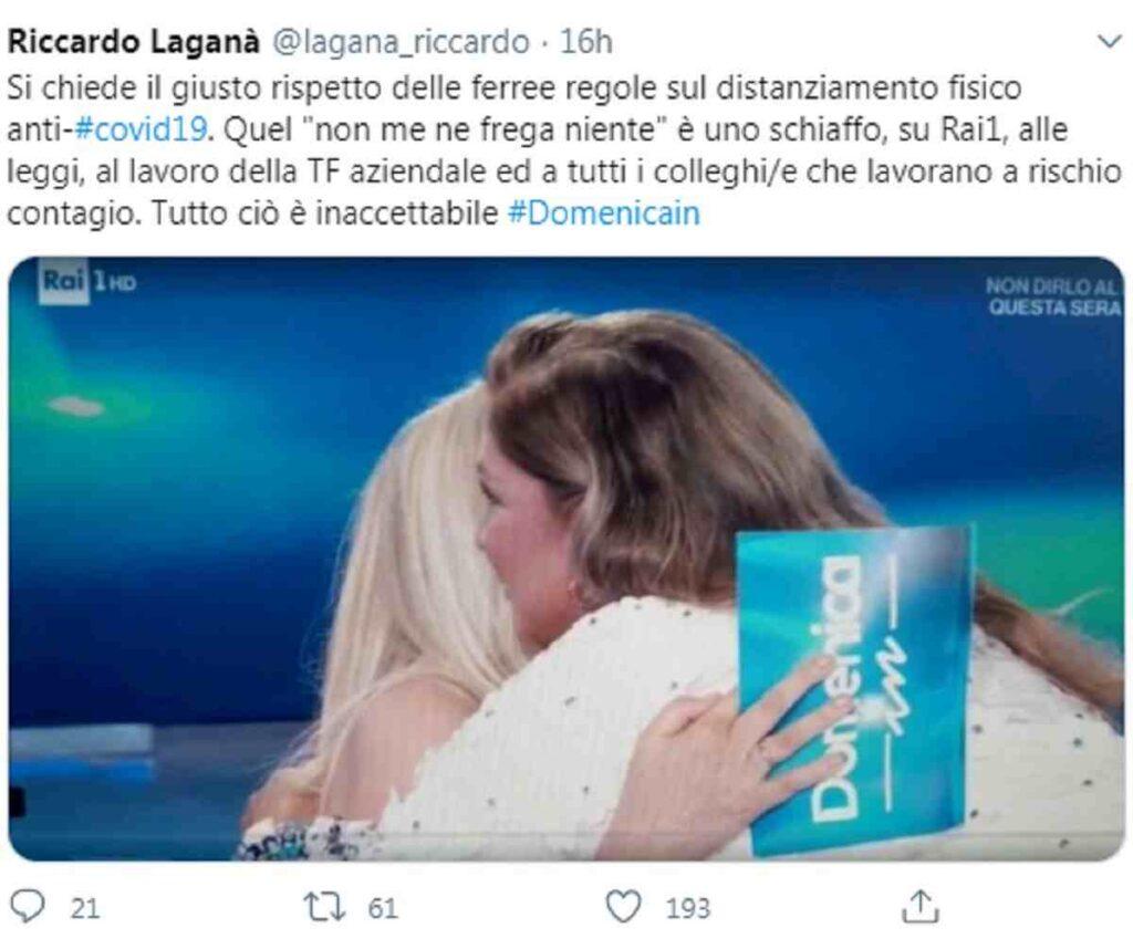 Il tweet del consigliere Rai Laganà