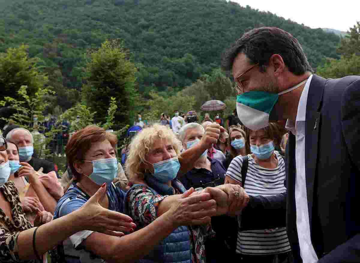 """Matteo Salvini: """"Ho fatto molti errori, ma a destra il leader sono ancora io"""""""