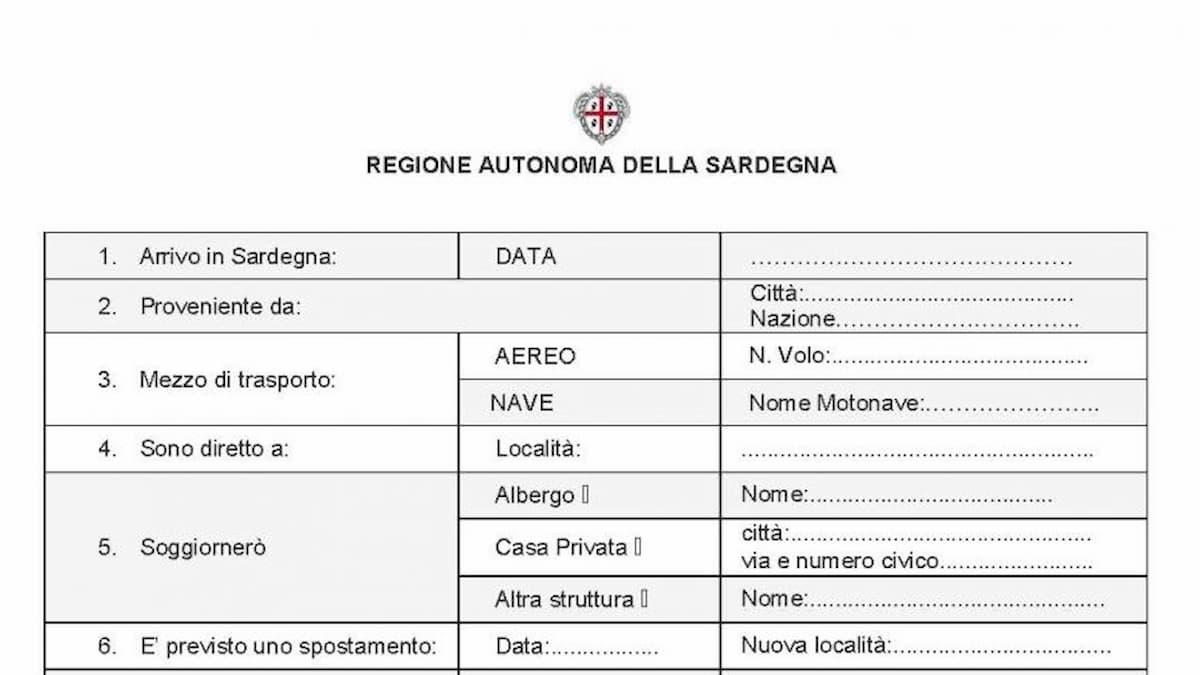 Sardegna, per entrare serve compilare un modulo: dove trovarlo e come funziona