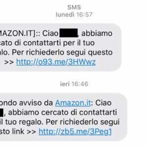 Truffa finto sms Amazon, promette un iPhone in regalo ma ruba soldi