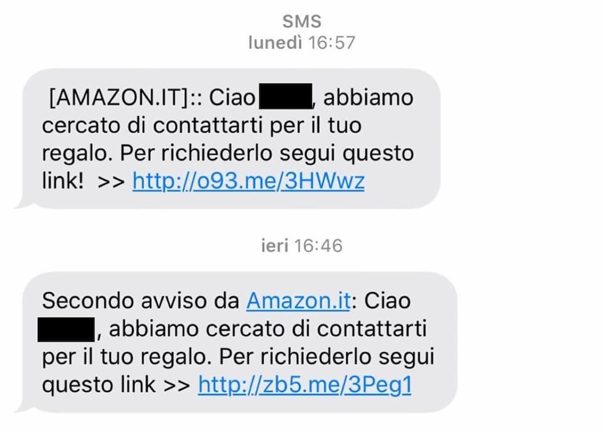 Truffa finto sms Amazon, promette un iPhone in regalo ma ruba soldi