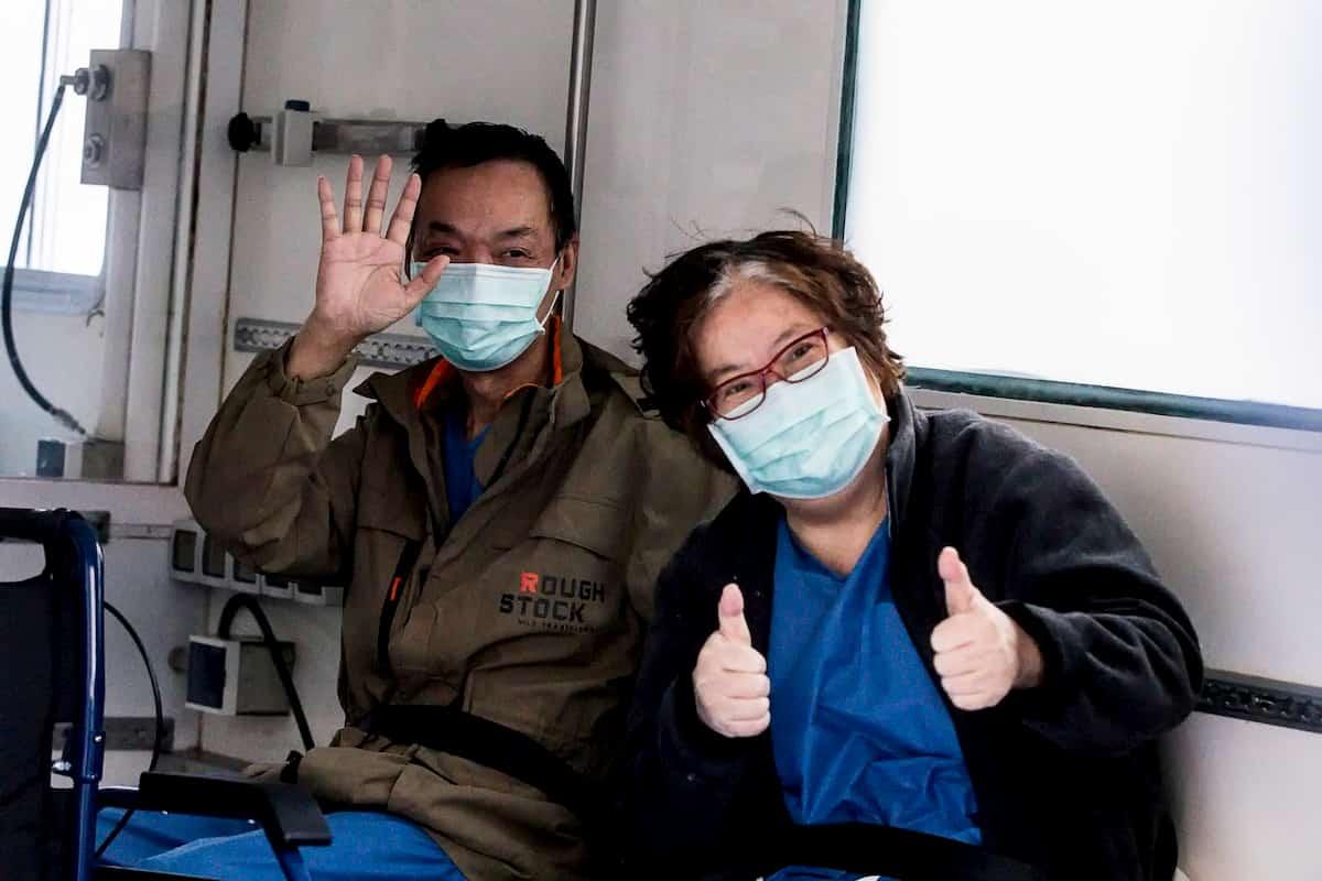 """Spallanzani. La coppia di Wuhan dona 40mila euro: """"Grazie, ci avete salvato la vita"""""""