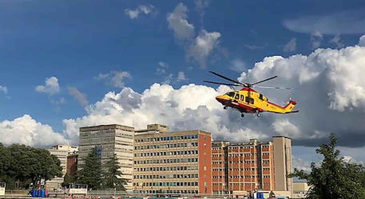 L'ospedale 'Le Scotte' di Siena dove è ricoverato Alex Zanardi