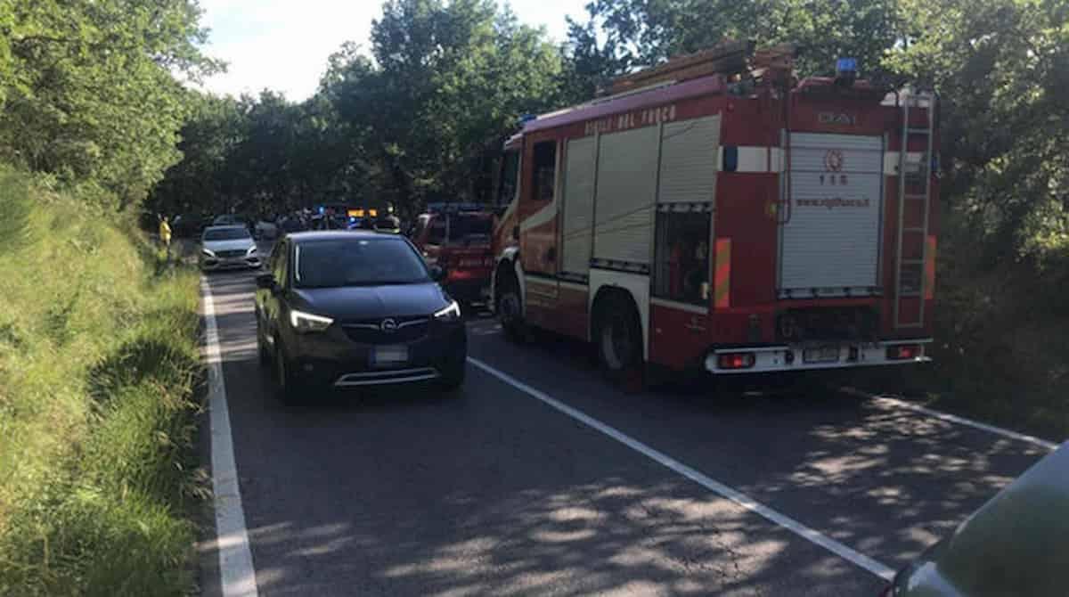 Il luogo dell'incidente di Alex Zanardi a Pienza