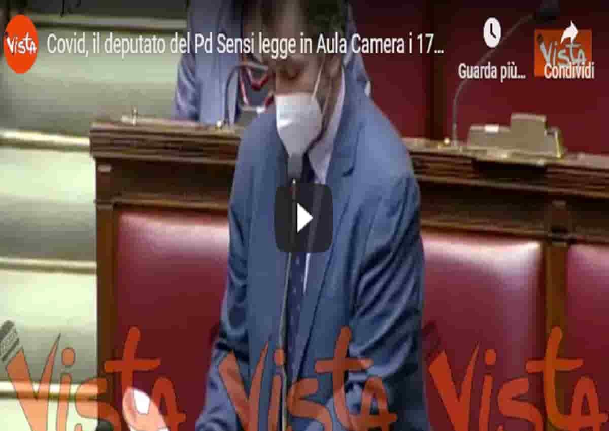 Coronavirus, Filippo Sensi e il discorso alla Camera