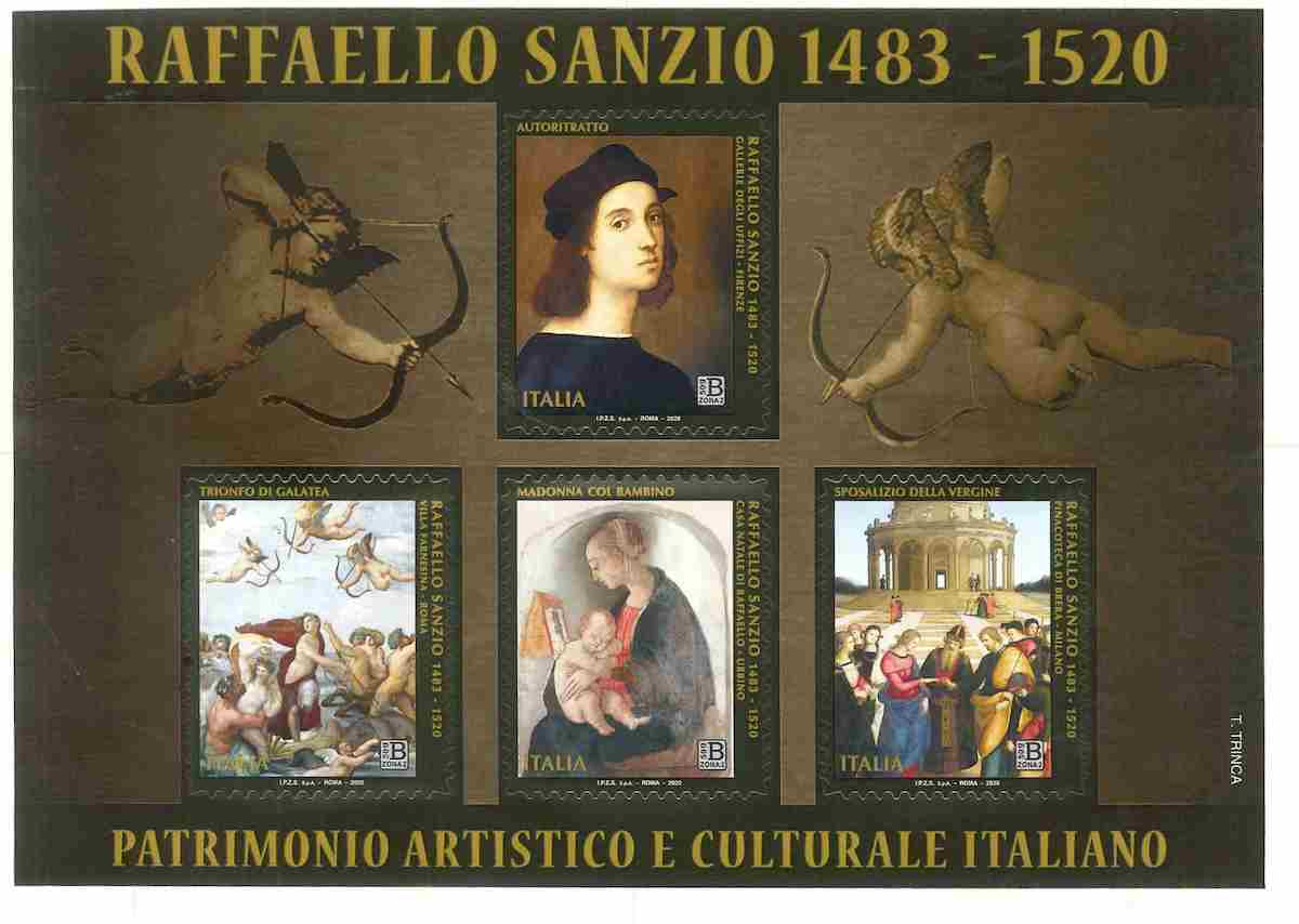 Poste Italiane, 4 francobolli dedicati a Raffaello nel V centenario scomparsa