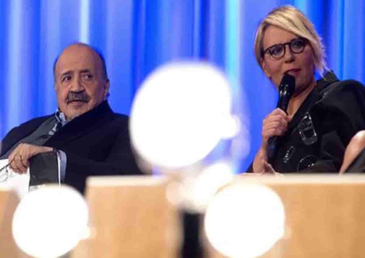 Giorgio Assumma, nella foto Ansa Maria De Filippi e Maurizio Costanzo