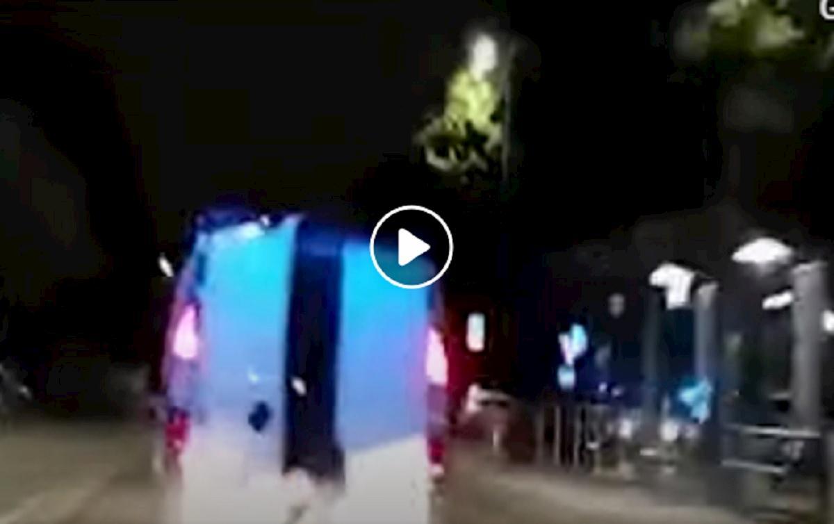 furgone fuga lancio refurtiva