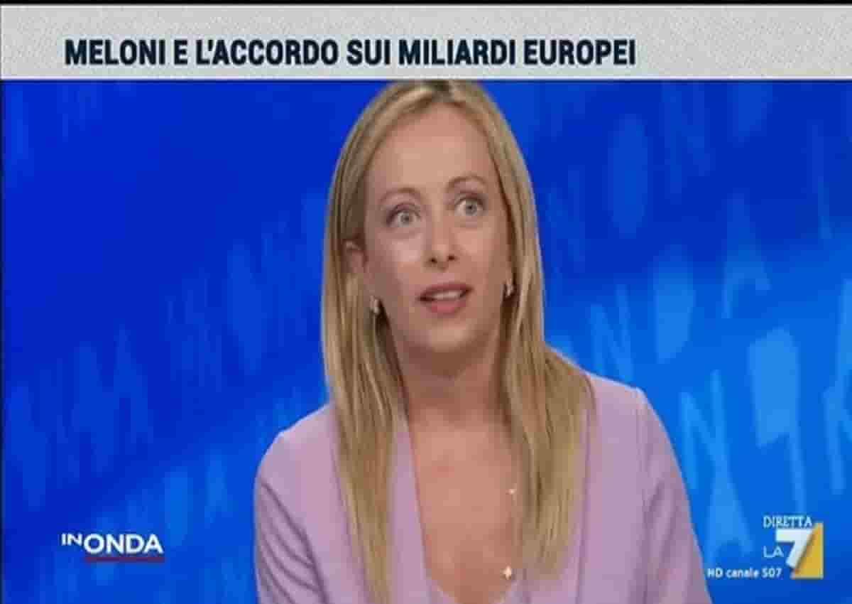 Giorgia Meloni, In Onda