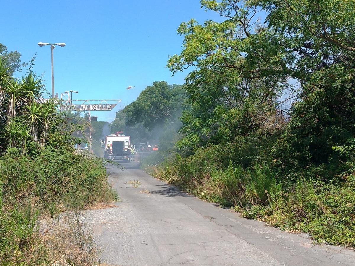 incendio tor di valle, operazioni di spegnimento
