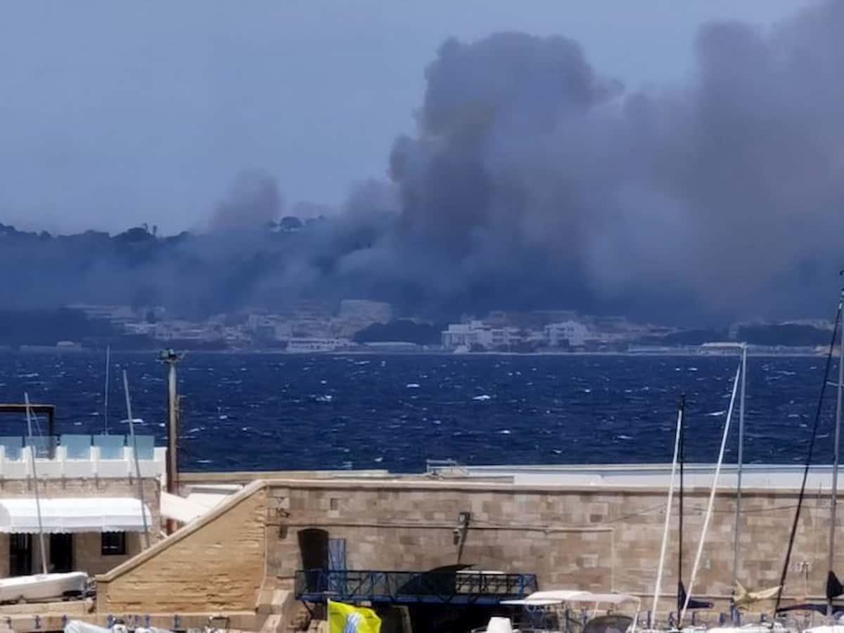 Salento, vasto incendio minaccia case a Sannicola
