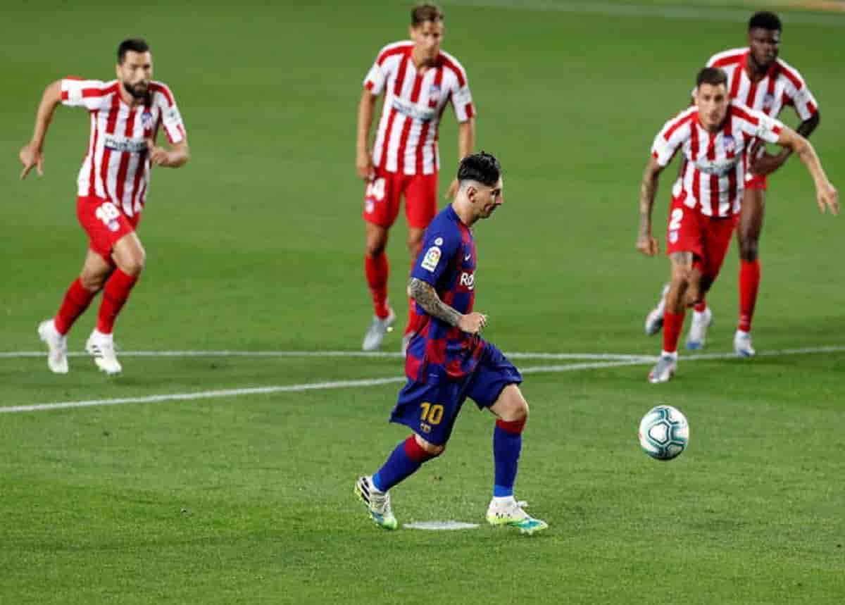 Leo Messi in una foto Ansa