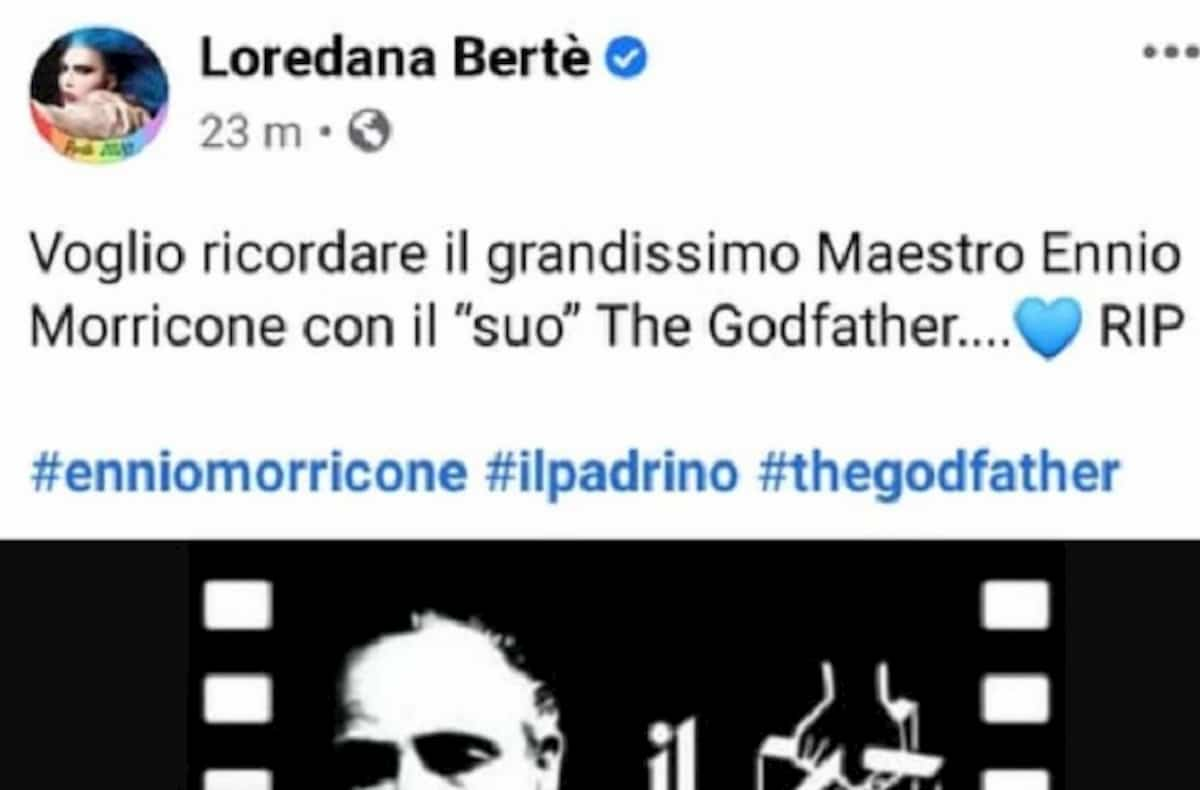 Loredana Bertè, gaffe su Ennio Morricone: lo omaggia col Padrino di Nino Rota