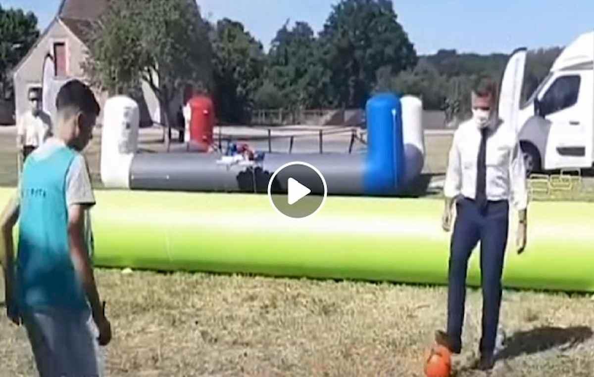 macron partitella a pallone