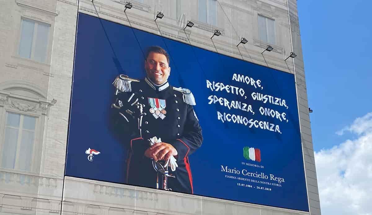 Mario Cerciello Rega poster a Roma