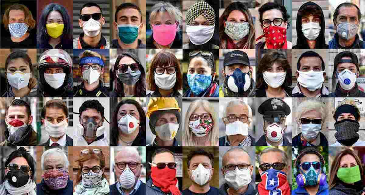 """Coronavirus, l'importanza delle mascherine . """"In 4-8 settimane pandemia sarebbe sotto controllo"""""""