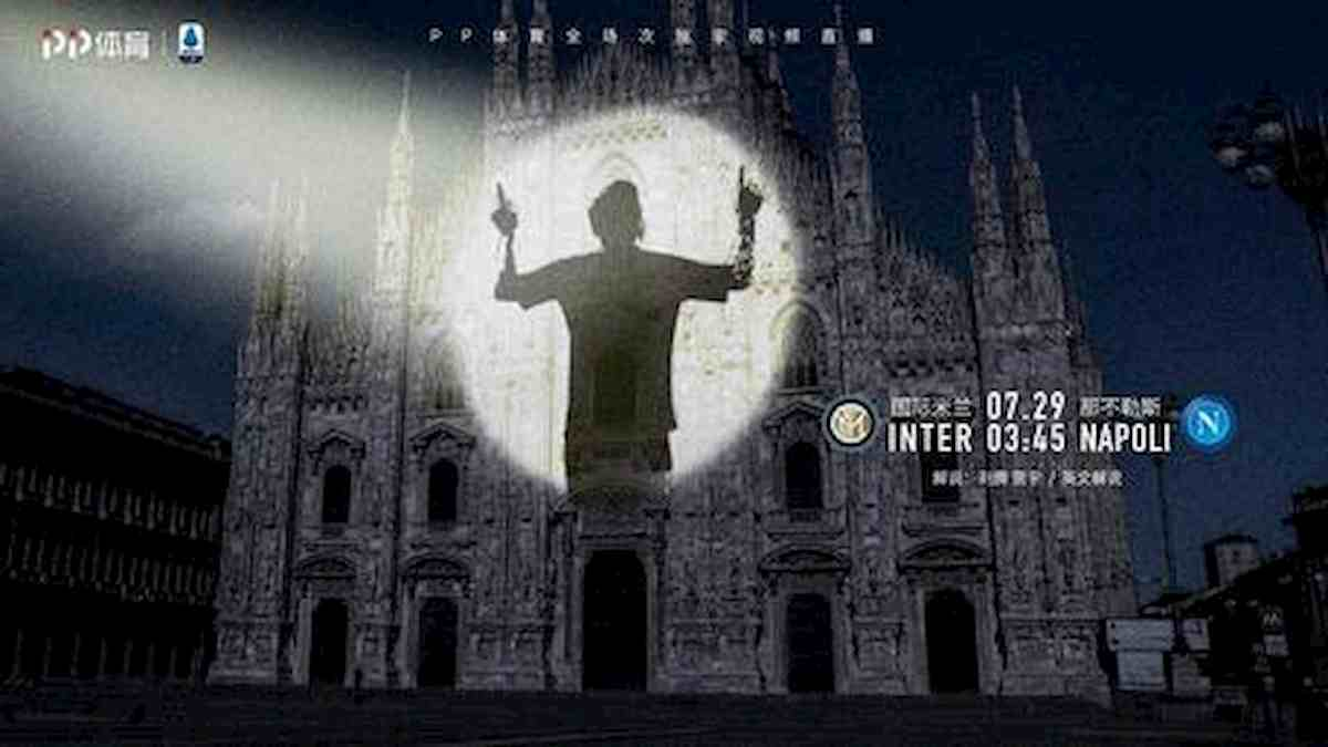 Inter, Messi proiettato sul Duomo dalla tv di Suning: è un indizio calciomercato?