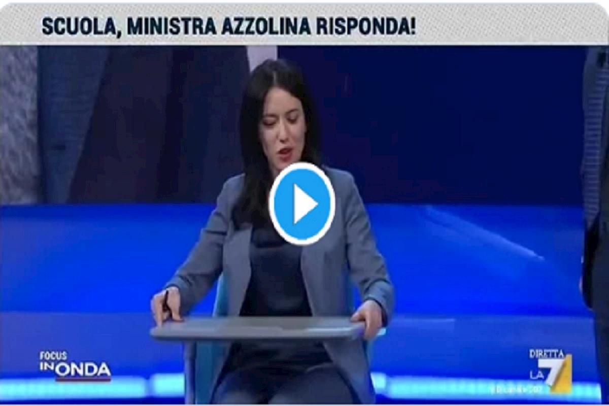 ministra azzolina su la7