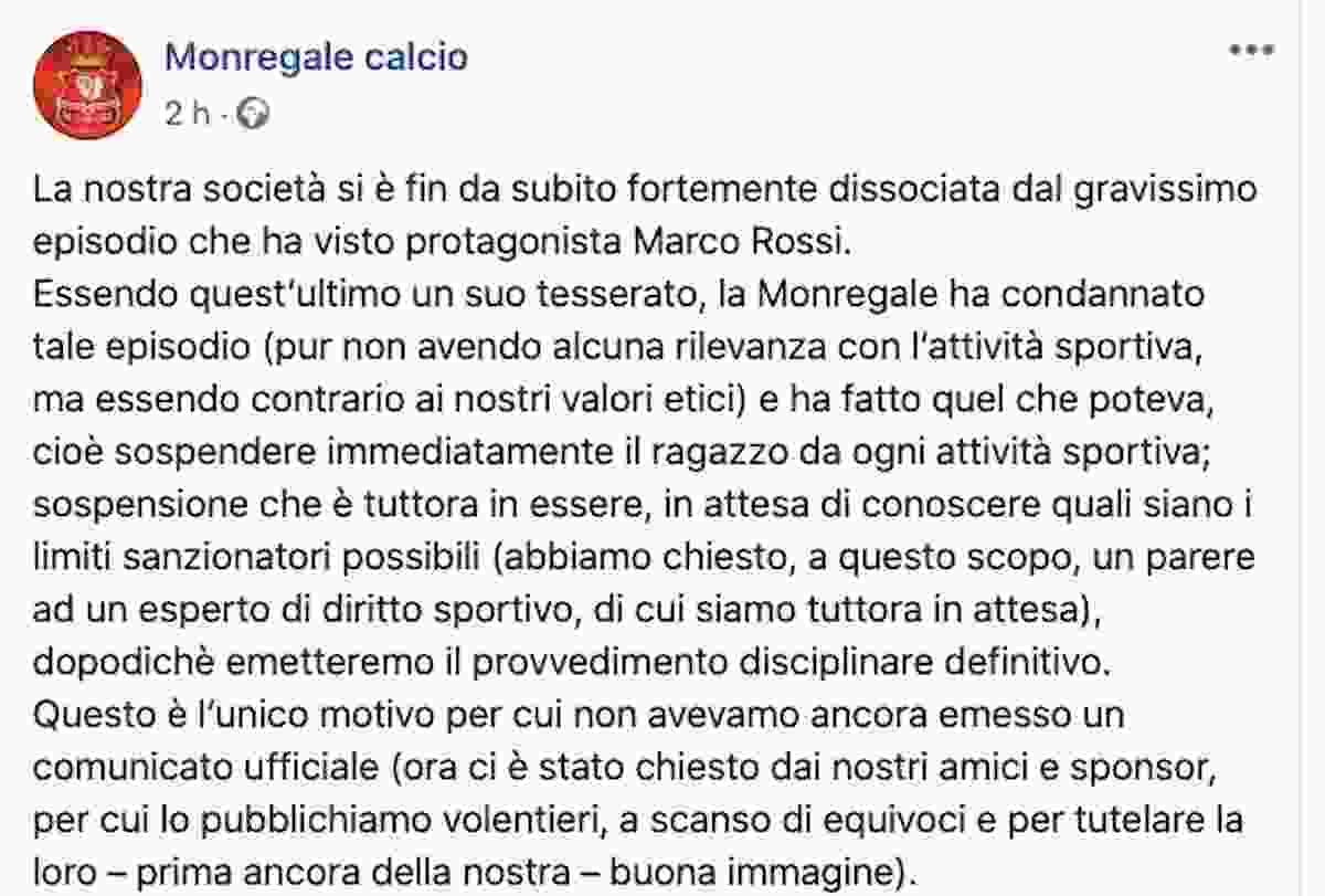 """Marco Rossi, il calciatore perde la testa sui social e insulta una donna: """"Negra orangotango"""""""