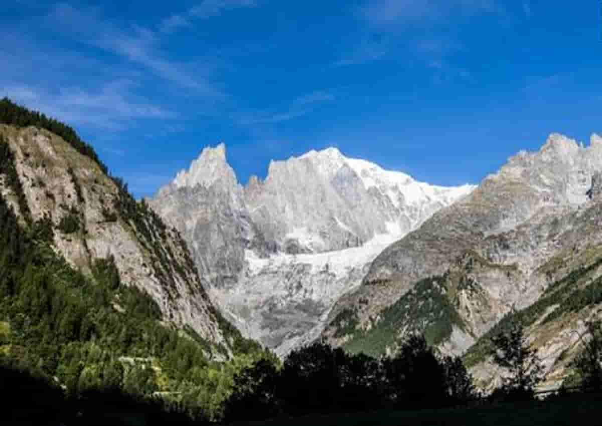 Monte Bianco, foto Ansa