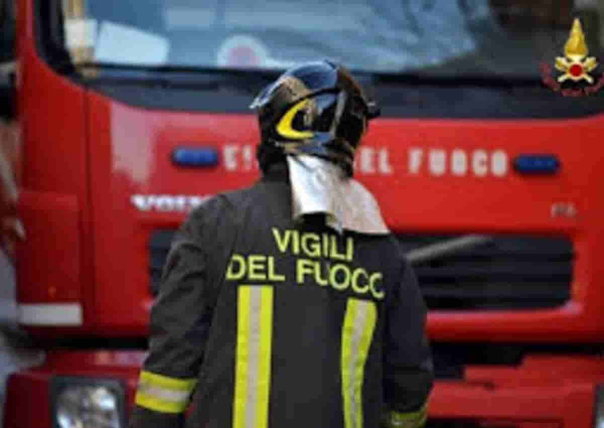 Incendio Monte Ciocci a Roma, foto d'archivio Ansa