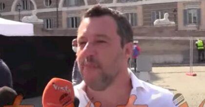 """Centrodestra (seduto) in piazza del Popolo. Salvini: """"Berlusconi? Mi fido totalmente"""""""