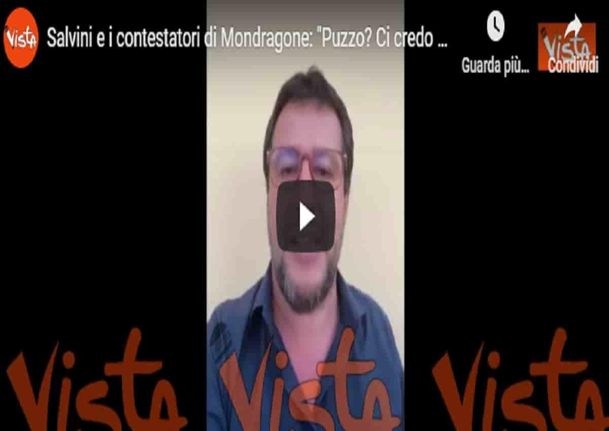 Mondragone, Matteo Salvini in un video Vista