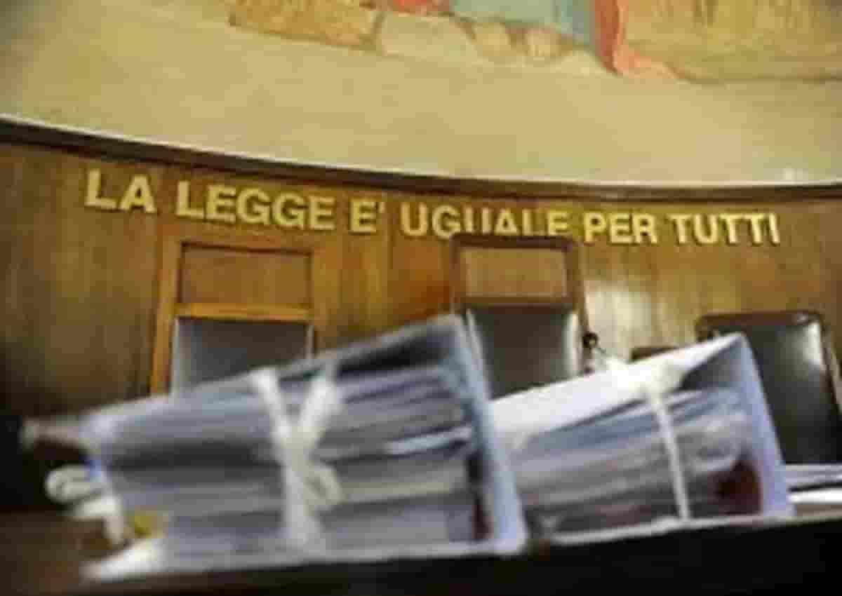 Napoli, foto d'archivio Ansa di un tribunale