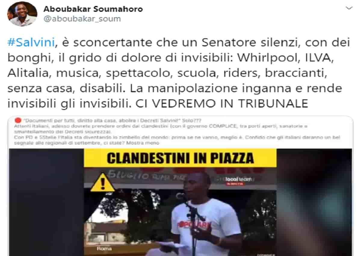 Soumahoro, Matteo Salvini e il video con i bonghi