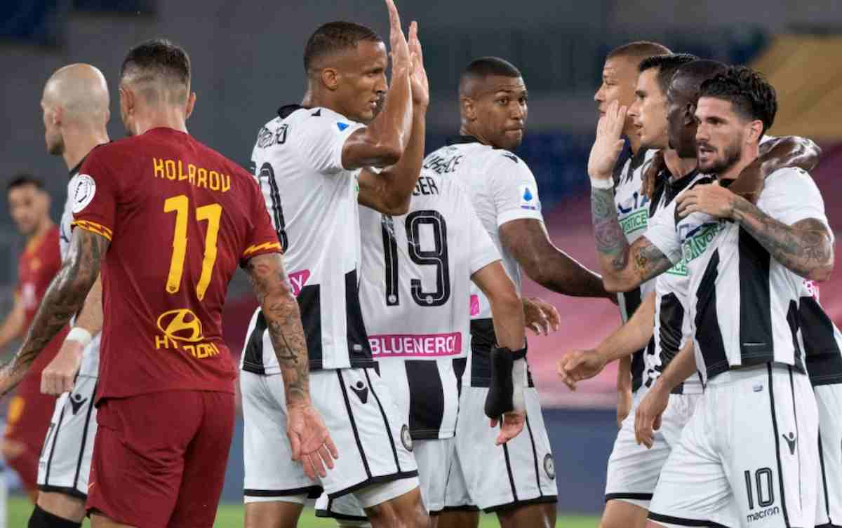 Roma-Udinese 0-2 gol Nestorovski Lasagna