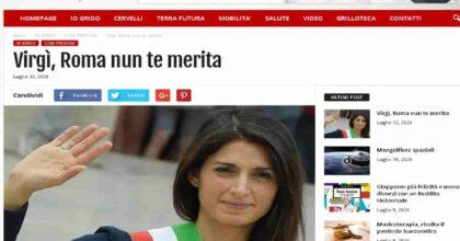 Grillo liquida Raggi: sonetto anti Roma (nella foto il blog di Grillo)