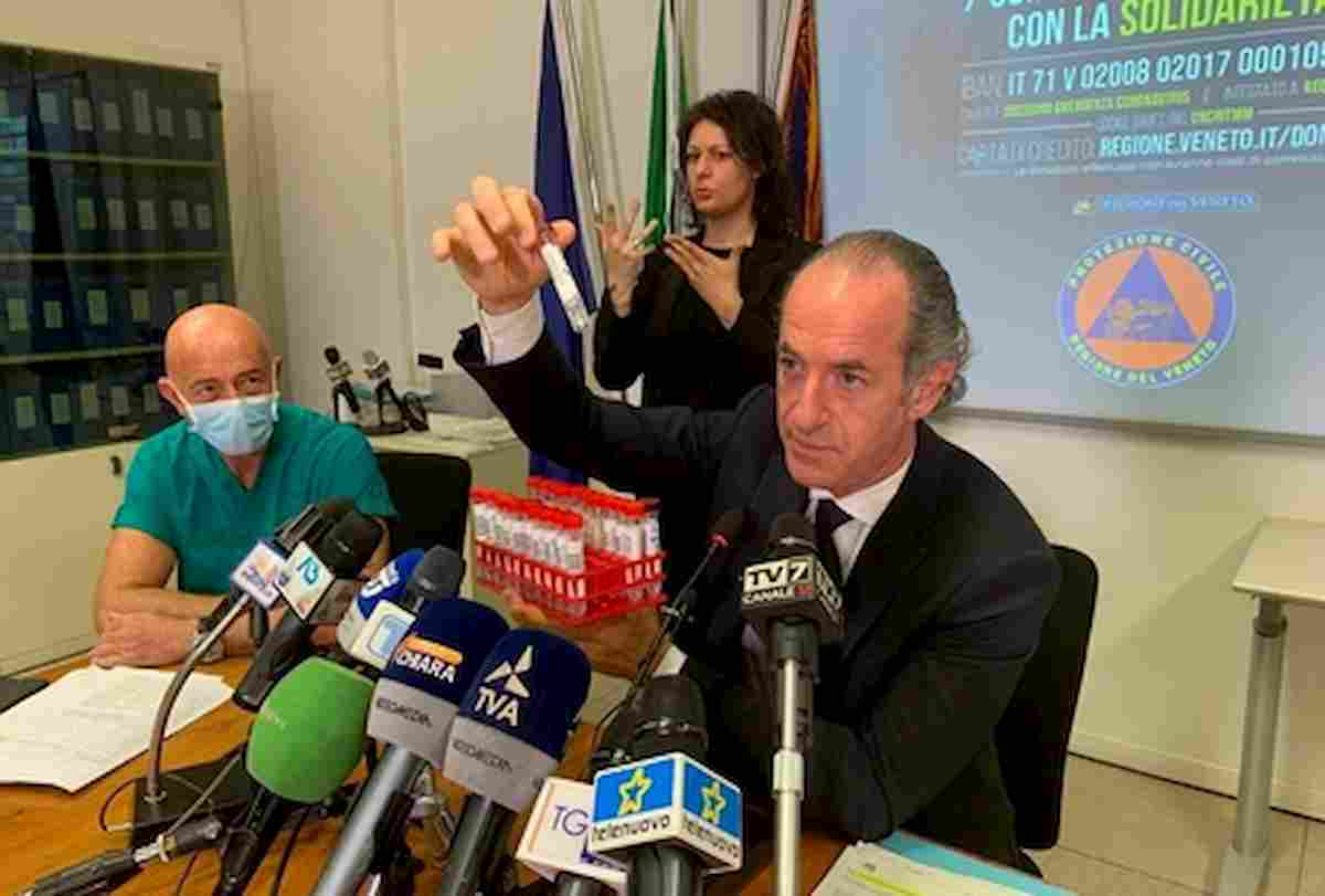 """Coronavirus in Veneto, Zaia: """"Morto il paziente 0 serbo"""". Segnalato in Procura"""