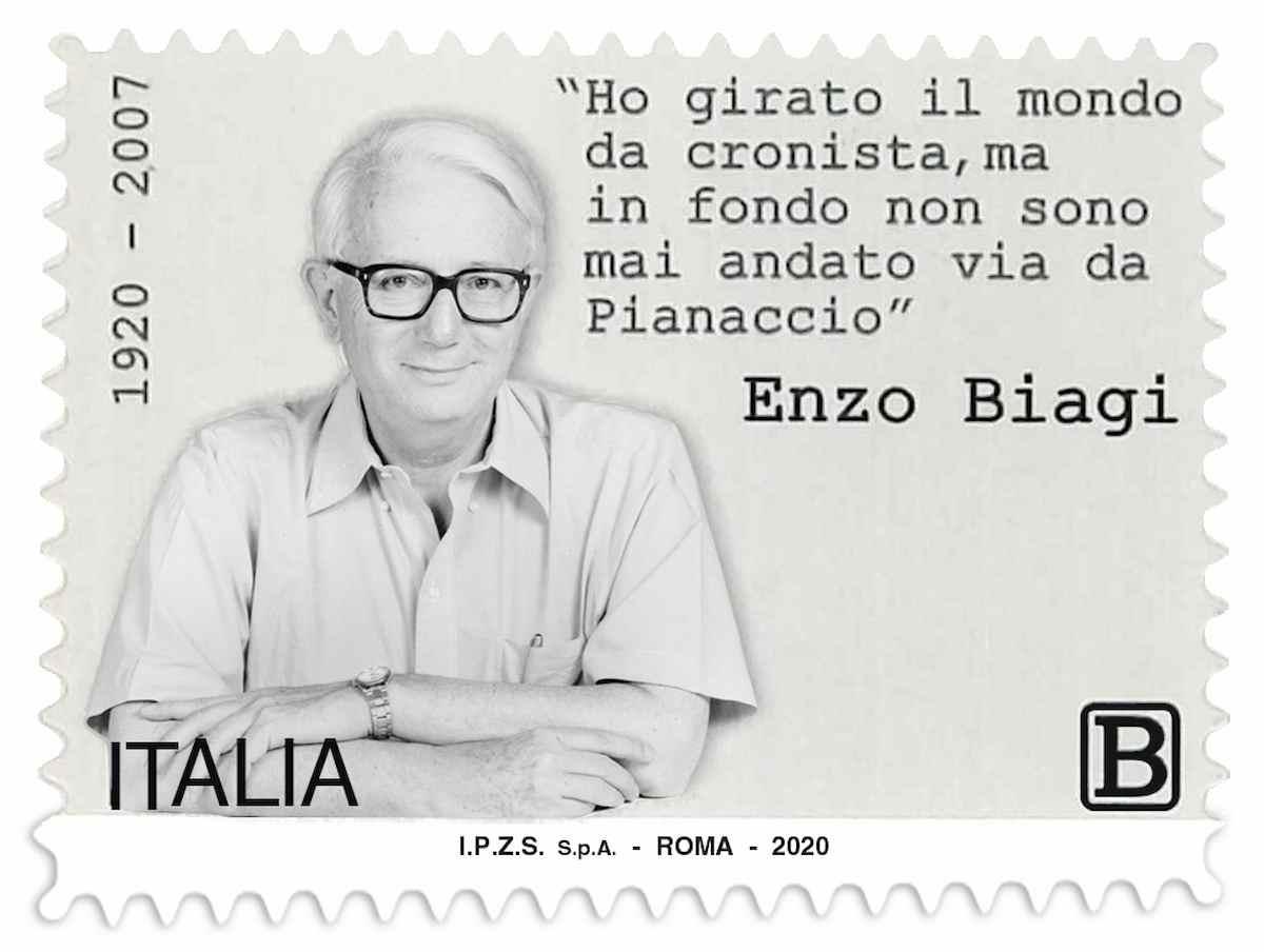 Enzo Biagi, il francobollo di Poste per celebrare i 100 anni dalla nascita
