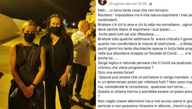 """Teodora Tiziana Rizzo, candidata Fdi: """"Virus programmato e un untore per punire Briatore"""""""