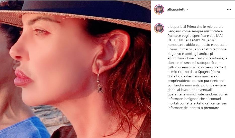 alba parietti su instagram
