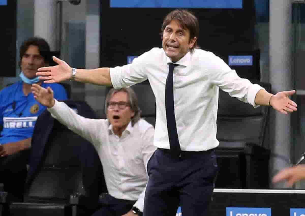 L'allenatore dell'Inter, Antonio Conte (foto Ansa)