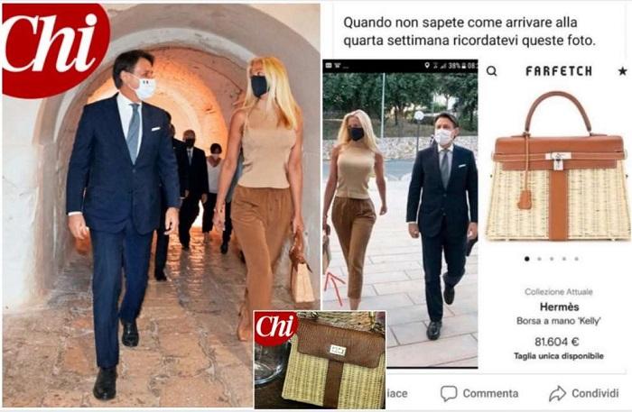 Olivia Paladino (lady Conte) e la fake news sulla borsetta da 81mila euro